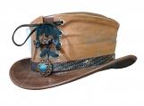 Shotgun Vested Short Top Leather Hat