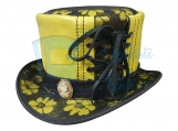 Steampunk Ladies Leather Top Hat