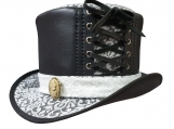Steampunk White Crusty Band Top Hat