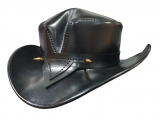 The Rambler Black Leather Hat