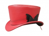 Victorian Leather Top Hat