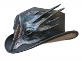 Voodoo Hatter Leather Top Hat- Dragon Band