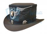 El Dorado Leather Top Hat- Eagle Band