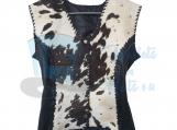 Cow hide Vintage Ladies Vest