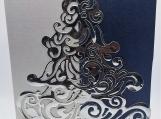 Clasy Christmas Tree Blue/Silver Box of 6