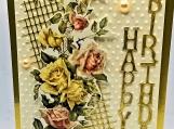 """Gold """"Happy Birthday"""""""