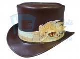 Voodoo Hatter Crocodile Leather Band Top Hat