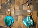 Blue Abalone & Pearl Beaded Set