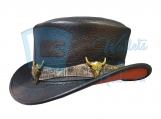 Voodoo Hatter Rodeo King Short Top Leather Hat