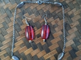 Red Bead and Czech Glass Bead Set