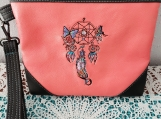 Dreamcatcher zippered clutch