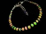 Ethiopian Fire Opal Gemstone Beaded Bracelet