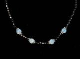 Hematite & Opalite Beaded Choker Necklace