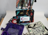 ID Pouch with zipper coin pocket