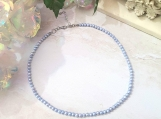 Light Blue Freshwater Pearl Choker Necklace