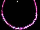 Mermaid Sea Glass Necklace Purple Pink