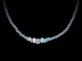 Opalite & Blue Agate Beaded Necklace