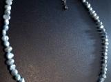Powder Blue Freshwater Pearl Choker Necklace