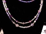 Purple Gold & Silver Necklace and Bracelet set