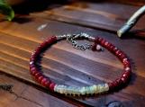 Ruby & Ethiopian Fire Opal Bracelet