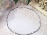 Silver Freshwater Pearl Beaded Choker Necklace