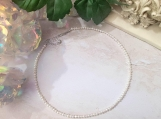 Silver White Freshwater Pearl Beaded Choker Necklace