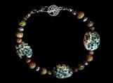 Tree Agate Beaded Bracelet