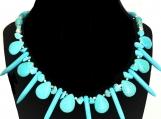 Turquoise Spike & Teardrop Beaded Necklace
