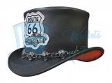 Voodoo Hatter El Dorado Route66 Leather Top Hat