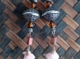 Gpysy Silver Bead and Flower Earrings