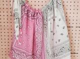 Pink & White Babydoll Tank-top