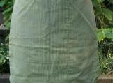 Green Pinstripe Gathering Apron - Upcycled fabrics