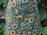 Sunflowers Gathering Apron - Upcycled fabrics
