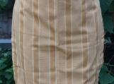 Yellow Pinstriped Gathering Apron - Upcycled Fabrics