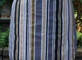 Elegant Pinstripe Gathering Apron - Upcycled fabrics