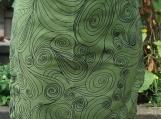 SOLD OUT - Retro Swirls Gathering Apron - Upcycled fabrics