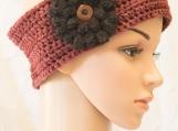 Wool Ear Warmer with Flower