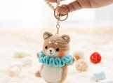 Animal Keyring, Ballet Zoo Park,Bag Pendant, Schoolbag Pearl Pandant Keychain, Rear View Mirror Hanger Car Charm Decoration, Gift for Her