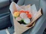 Finished item, Amigurumi Rose, Handmade Cute Flower For Girlfriend, Romantic, Gift For Child, Custom Crochet Flower, Kawaii, Couple Present