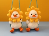 Finished Products, Amigurumi Toy, Car Interior, Duckling Pendant, Exquisite Handmade Car Accessories, Gifts For He, Custom Plush Toys, Kawai