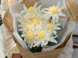 Finished item, Amigurumi Daisy, Handmade Cute Flower For Girlfriend, Romantic, Gift For Child, Custom Crochet Flower, Kawaii, Couple Present
