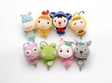 Finished Item, Mini Dolls Keyring, Cute Keychain, Crochet Custom Animals Toy, Handmade Christmas Decoration, Gift for Child, Couple Presents