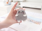 Finished Item, Mouse Keyring, Hairy Mouse Keychain, Crochet Animals Bag Pendant, Handmade Car Charm Decoration, Gift for Her, Couple Gifts