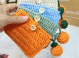 Finished Products, Amigurumi Cute Bag, Crochet Bag, Handmade Card Bag, Woven Wallet, Zero Wallet, Children's Gift, Presents For Children