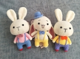 Lovely Rabbit Doll, Finished item, Amigurumi, Handmade Toy For Kids, Plush Toy, Gift For Child, Custom Stuffed Dog, Kawaii, Couple Presents
