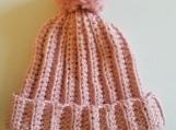 Pale Pink Crochet Hat