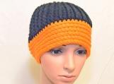 Black/orange Messy Bun Hat