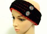 Red/Black Ear Warmer