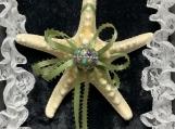 Green Ribbon Starfish Ornament