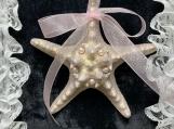 Iridescent Pink Starfish Ornament